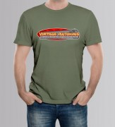 TEE-SHIRT HOMME OLIVE by Vintage Autohaus