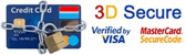 Paiement sécurisé 3D Secure : Verified by VISA, MasterCard SecureCode