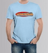 TEE-SHIRT HOMME BLEU  by Vintage Autohaus